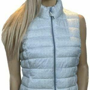 GAP Beige Womens Puffer Zip Up Jacket Vest